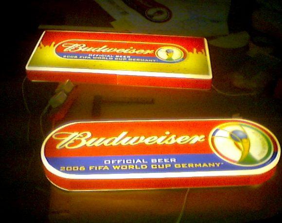 Budweiser bar signage