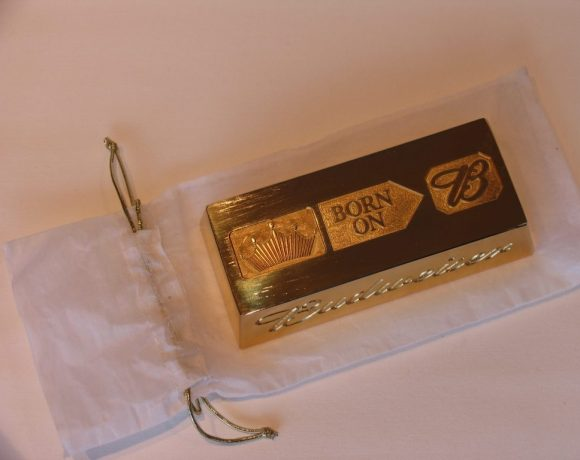 Real gold troy ounce ingots for Budweiser